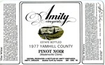 Amity Vineyards 1977 Pinot Noir (Wadensville Clone) Wine Label