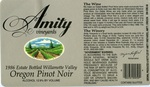 Amity Vineyards 1986 Oregon Pinot Noir Wine Label by Amity Vineyards