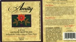 Amity Vineyards 1990 Estate Bottled Oregon Pinot Noir Wine Label