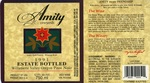 Amity Vineyards 1991 Estate Bottled Oregon Pinot Noir Wine Label