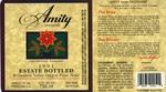 Amity Vineyards 1991 Estate Bottled Oregon Pinot Noir Wine Label by Amity Vineyards