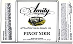 Amity Vineyards 1976 Pinot Noir Wine Label by Amity Vineyards