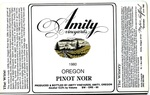 Amity Vineyards 1980 Oregon Pinot Noir Wine Label by Amity Vineyards