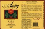 Amity Vineyards 1990 Oregon Pinot Noir Wine Label by Amity Vineyards