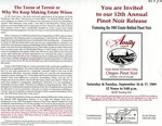 Amity Vineyards 12th Annual Pinot Noir Release Invitation (Front) by Amity Vineyards