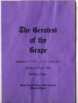 Greatest of the Grape Program (Cover)