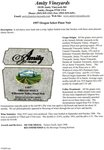 Amity Vineyards 1997 Oregon Select Pinot Noir Information Sheet