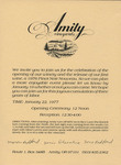 Amity Vineyards Winery Opening Invitation