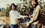Janis Checchia and Myron Redford in Vineyard, 1974 by Unknown