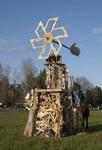 Hand in Hand Collaborative Burn Sculpture 23