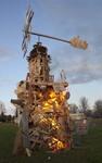 Hand in Hand Collaborative Burn Sculpture 29