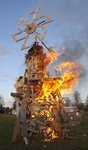 Hand in Hand Collaborative Burn Sculpture 30