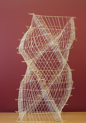 ... Toothpick Sculpture Build 02  A Cosmic Dance (View 1) ...