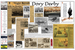 <em>Launching through the Surf</em> Traveling Exhibit Panel 05: Dory Derby by Tyrone Marshall and Brenda DeVore Marshall