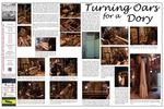 <em>Launching through the Surf</em> Traveling Exhibit Panel 11: Turning Oars for a Dory by Tyrone Marshall and Brenda DeVore Marshall