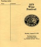 Enological Society 1979 Wine Festival Program (Back Page & Cover)