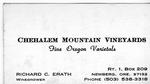 Chehalem Mountain Vineyards Business Card