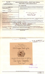 Application for and Certification of Label Approval for 1970 Oregon Pinot Gris by David Lett