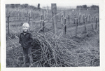 Jason Lett with Vineyard Prunings