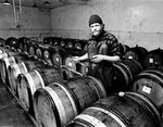 David Lett Tasting Wine from Barrels by Tom Ballard