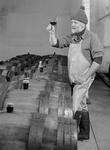 David Lett Sampling Wine