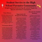 Student Service to the High School Forensics Community: Insights Gained from Hosting the Annual Singletary Speech and Debate Tournament by Kelsey Bruce