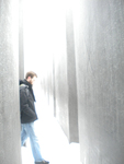 Eric Stones at the Memorial to the Murdered Jews of Europe