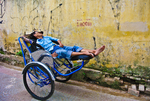Tired Rickshaw