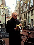 Man Eating Patat, Vlaamse Frites by Raquel Escalera