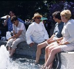 Guests at the Fountain