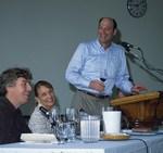 Laurent Montalieu, Lalou Bize Leroy, and Matt Kramer, 2001 by Doreen Wynja
