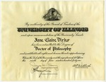 Jane Claire Dirks's Doctorate of Philosophy Degree by University of Illinois