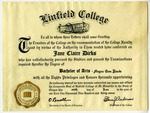 Jane Claire Dirks's Bachelor of Arts Degree by Linfield College