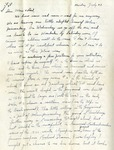 Letter #20 from Bob Jones to His Parents