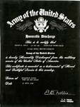 United States Army Discharge Certificate by E. B. Nellis