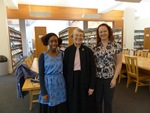 Vivian Bull with Linfield College Archives Staff