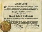 McHarness Undergraduate Diploma by Robert C. McHarness