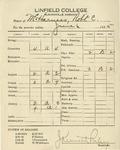 McHarness Grades, Spring 1925