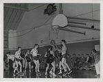 Linfield College Men's Basketball Game, 1947 by Unknown