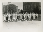 Women in Front of Melrose Hall