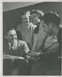 Dr. Gordon Frazee with Students by Unknown