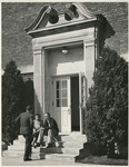 Discussion on the Steps of Melrose Hall by Unknown