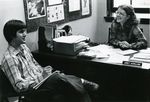Administrator Janet Schilling and Student by Unknown