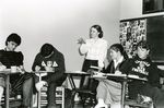 Barbara Seidman and Students in Class by Keith Ussery