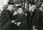 President Harry Dillin and Edith Green at Graduation by Unknown