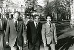 President Charles Walker Walking with Henry Kissinger