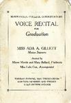 Ada Gillett Voice Recital Program