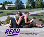 Hannah Bressler and Cassie Kanable READ Poster by Paula Terry and Nicholson Library Staff