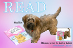 Muffin READ Poster by Paula Terry and Nicholson Library Staff