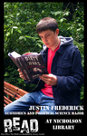 Justin Frederick READ Poster by Paula Terry and Nicholson Library Staff